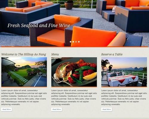 Hilltop Restaurant Ao nang Phuket Web Design