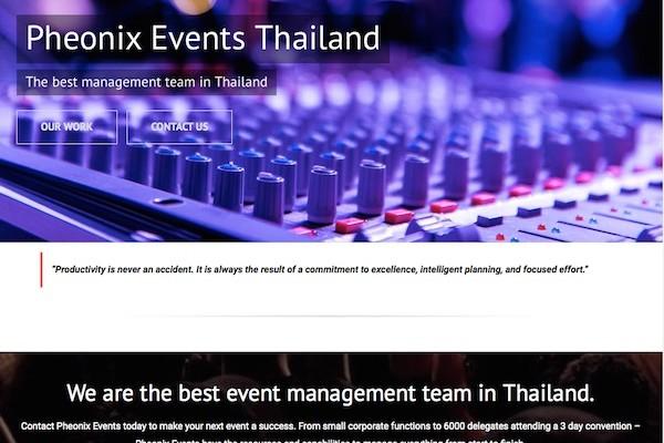Pheonix Event Management Phuket Web Media